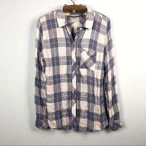 Rails blue and white plaid Hunter flannel top
